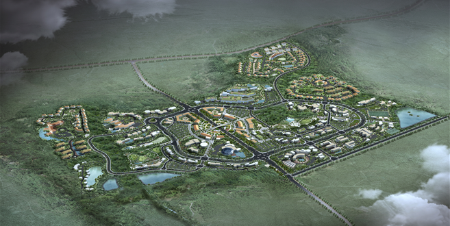 Jeju Free International City Development Center (JDC) announced on August 19 that JDC and Greenland Holding signed a 600-billion-won agreement on the development of additional sites in the soon-to-be-built town. (image: JDC)