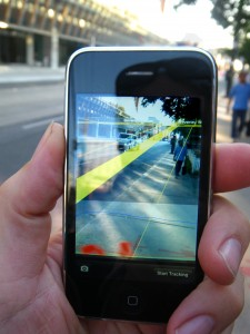 An app with augmented reality technique is also applying for patent. (image: Wikipedia)