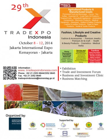 Trade Expo Indonesia 2014 to be Held October 8-12