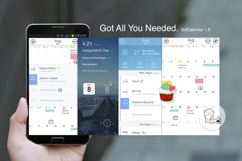 Daum Unleashes Biggest-ever Update of SolCalendar: To-do and Map Features Announced