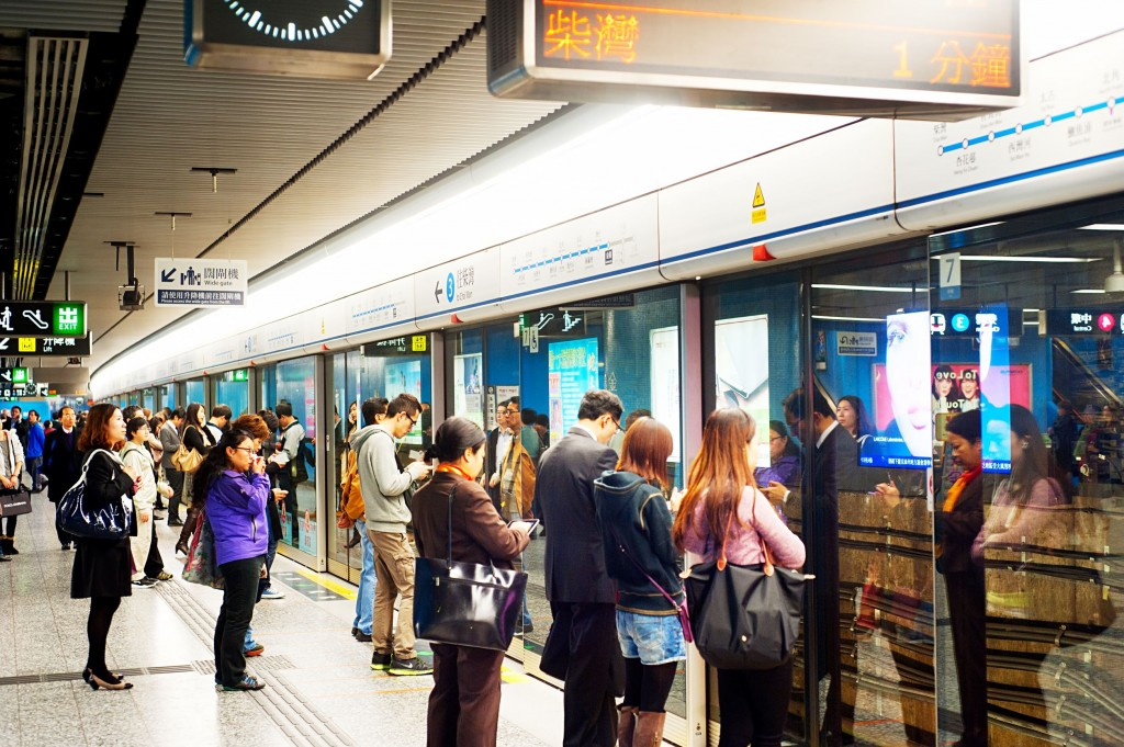 Hong Kong, Hong Kong S.A.R. In 2012 the MTR reportedly had 46.4% of the public transport market, making it the most popular transport in Hong Kong. (image: Kobizmedia/ Korea Bizwire)