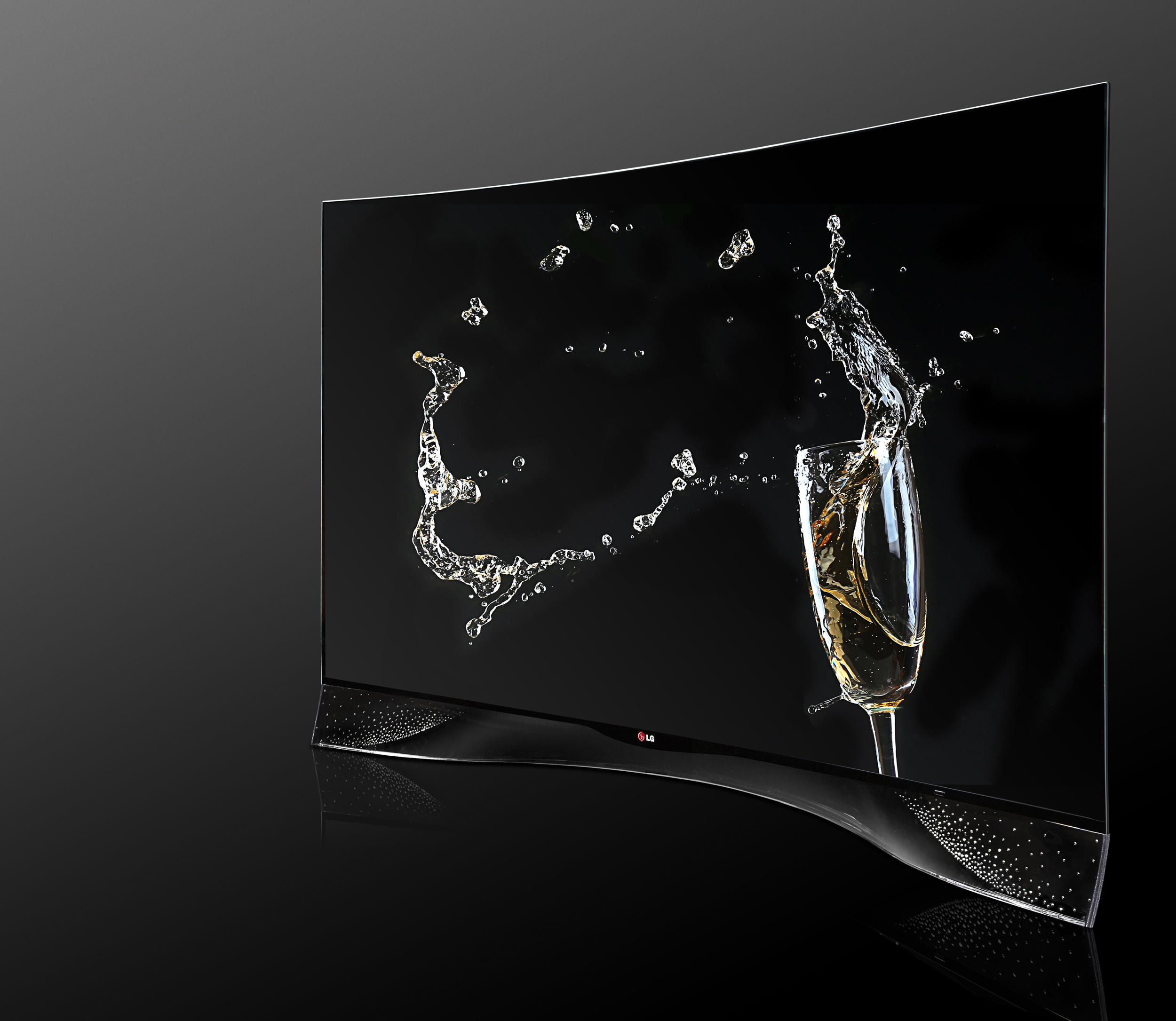 LG Electronics, with design support from Swarovski, the renowned Austrian jewelry brand and world-leading manufacturer of high-quality crystals, will unveil a one-of-a-kind CURVED OLED TV at IFA Berlin. (image credit: LG Electronics)
