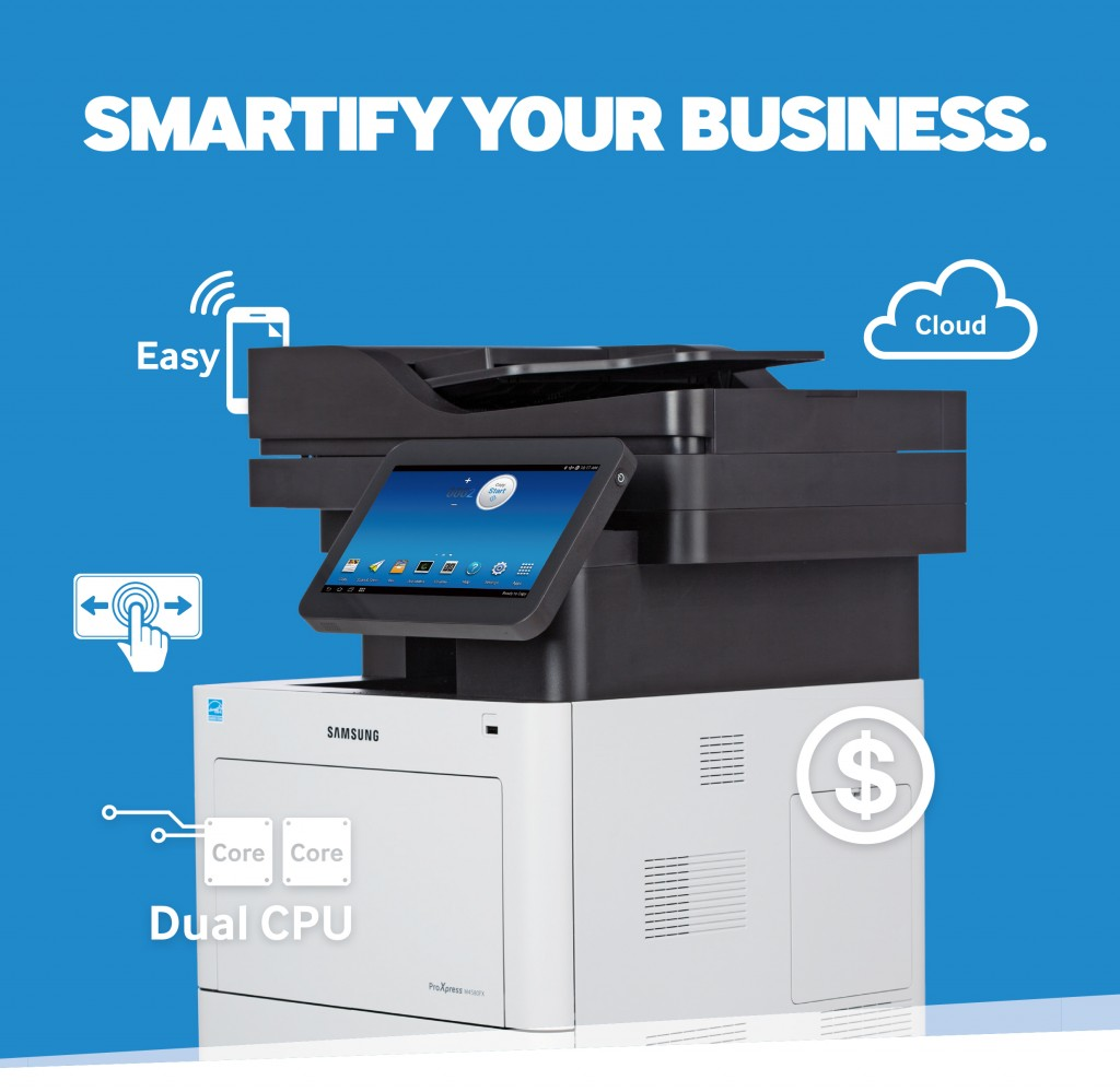 Redefining what smart means for businesses, campaign highlights benefits of Samsung's newest printing solutions, including world's first Android™ based printer (image: Samsung Electronics)