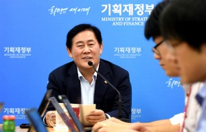 Choi Kyoung-hwan, South Korea's Deputy Prime Minister and Finance Minister