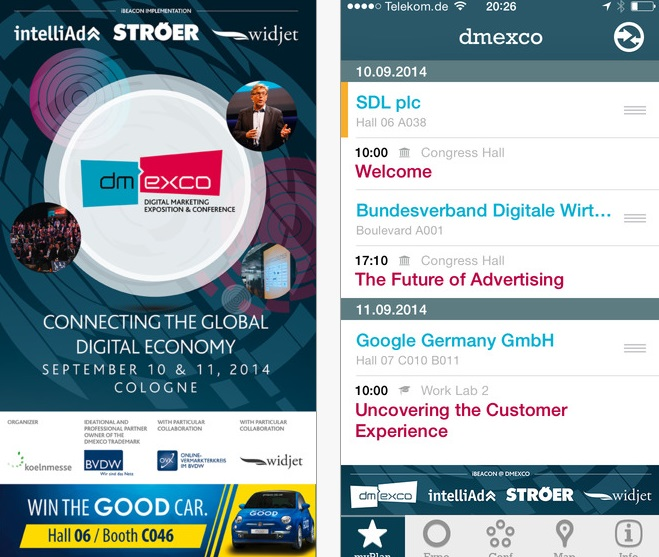 The official dmexco App is being launched just in time to coincide with dmexco 2014. (image: App Store Screenshot)