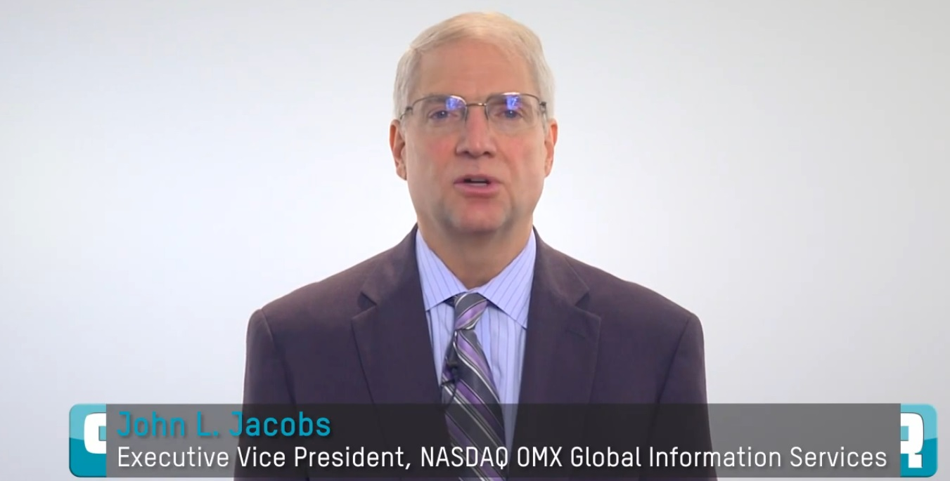 NASDAQ OMX announced longtime senior executive John L. Jacobs will retire after more than 30 years of leadership and service to the company. (image: NASDAQ OMX)