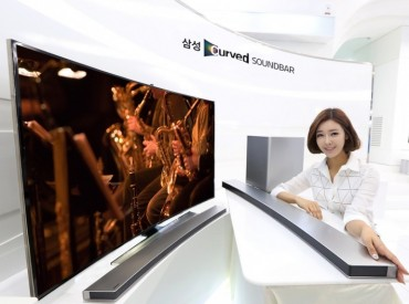 Samsung Curved Soundbar, Perfect Match for Samsung Curbed TVs