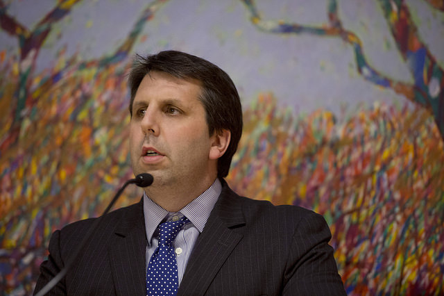 Mr. Lippert swore in as the ambassador in the Treaty Room at the State Department presided over by Secretary of State John Kerry, with 80 family members and friends in attendance. (image: Chuck Hagel/flickr)