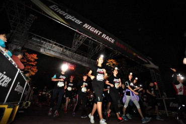 Energizer Korea Holds Night Race to Make Much Brighter World