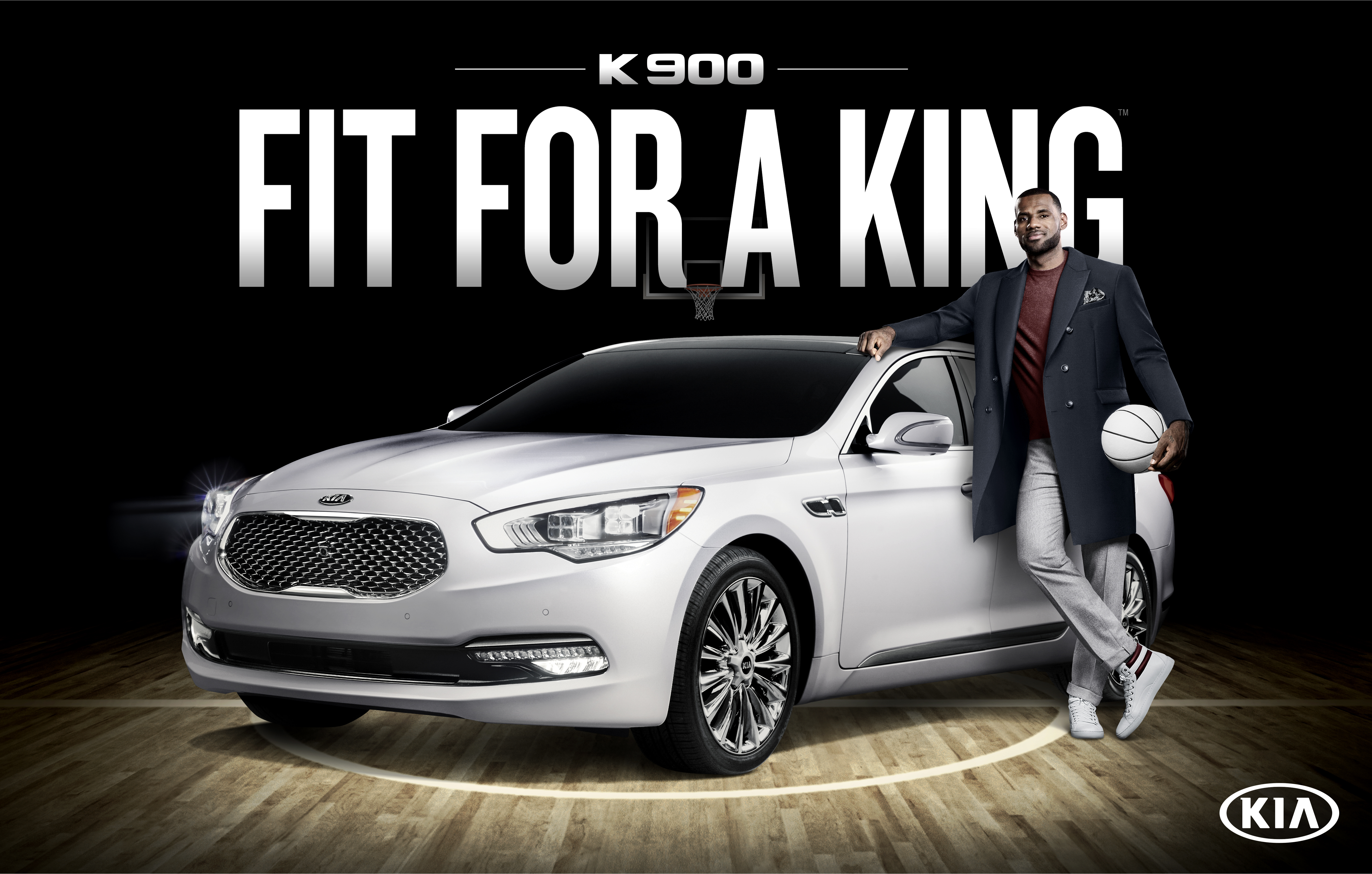 """""""I was a Kia K900 driver and fan before we decided to become partners, so I'm really excited to be Kia's first-ever luxury ambassador,"""" said LeBron James. (image credit: Kia Motors America)"""
