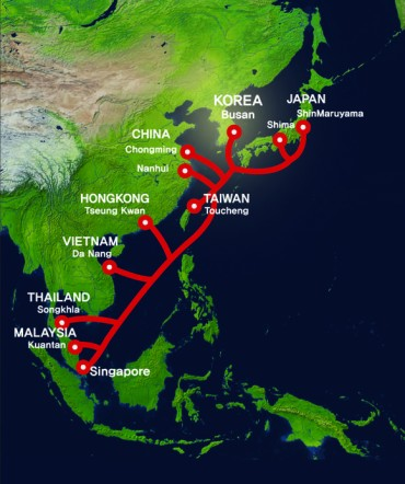 KT Connects East Asia with World's Largest Submarine Cable Network