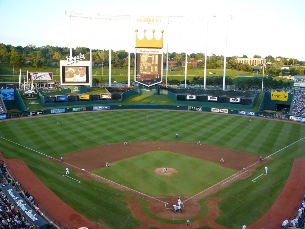 Kauffman Stadium, home to the Kansas City Royals  (image: Wikipedia)