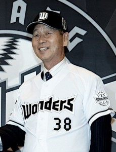 Mr. Kim has been a general manager for the Goyang Wonders, an independent baseball club. (image: Goyang Wonders)