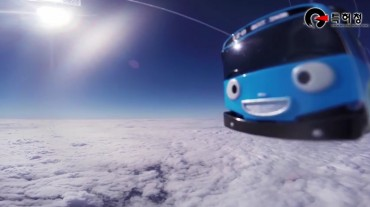 Space Balloon and Tayo Mini Bus Travel to Space — for Short Time