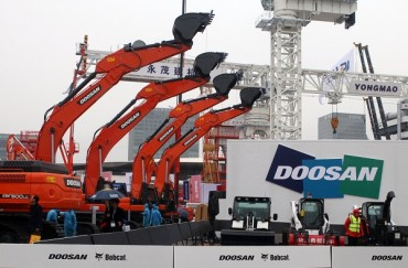 Doosan Boasts Products in Bauma China 2014