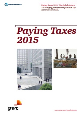 Paying Taxes 2015 measures all mandatory taxes and contributions that a medium-size company must pay in a given year. (image: PwC)