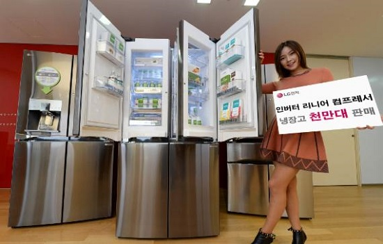 LG Electronics Sells 10 Mil. Inverter Linear Compressor Refrigerators