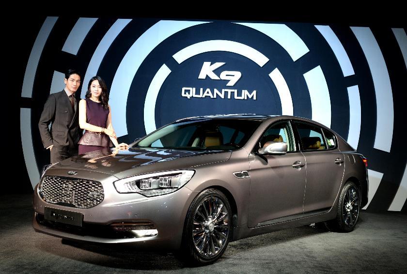 The K9 Quantum's engine features a maximum output of 425 horsepower and a maximum torque of 52.0 kg•m. (image: Kia Motors)