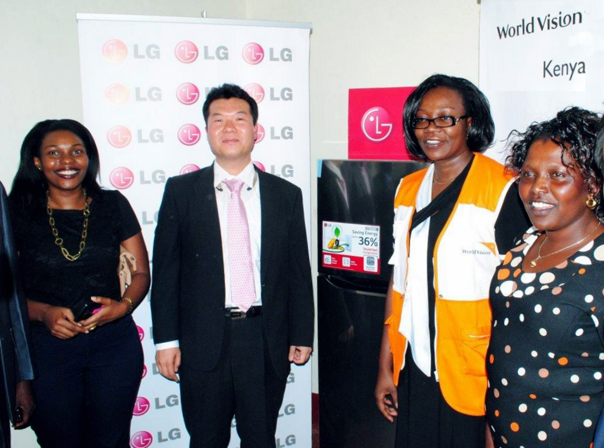 World Vision Kenya will use the LG solar refrigerators to improve immunization coverage among children under five years old as well as among pregnant and lactating women in Kenya's West Pokot County. (image: LG Electronics)