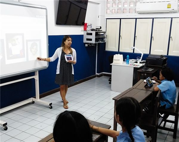 SK Telecom launched two pilot projects on Smart Class at Darakam Elementary School and Patumkongka Middle School located in Bangkok, Thailand. (image credit: SK Telecom)