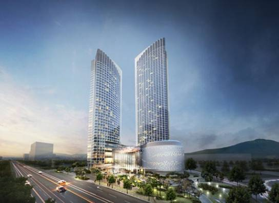 The group is involved in the Jeju Dream Tower project as well.   (image: Dongwha Investment & Development)