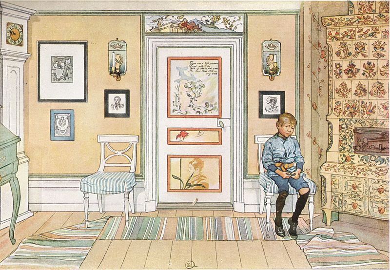 """Skamvrån. Ur Ett hem"" (In the Corner. From A Home) by Carl Larsson 1894 (Wikipedia)"