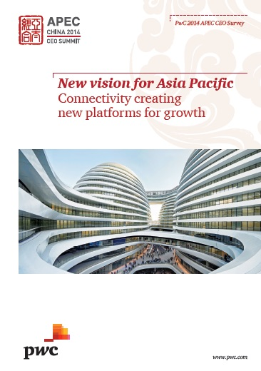 """PwC's study, """"New Vision for Asia Pacific: Connectivity creating new platforms for growth,"""" surveyed more than 600 business leaders about prospects for business in the region. (image: PwC)"""