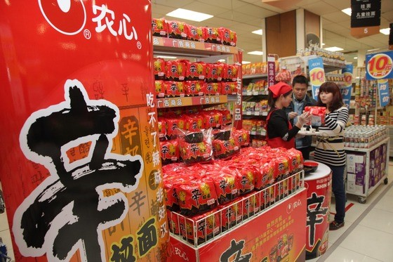 Monthly sales of Nongshim Ramyuns in China this year rose 73 percent compared with the previous year. (image: Nongshim)