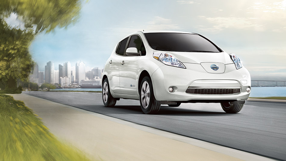 The Leaf is a five-seater hatchback model which is the world's No. 1 electric vehicle with its cumulative sales reaching 147,000 units as of the end of November 2014. (image: Nissan Korea)