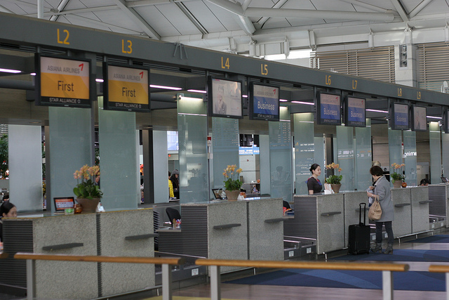 With the new simplified service, passengers who have already selected their seats and have electronic boarding passes will only have go through a passport check at the departure gate. (image: Kristofer Palmvik)