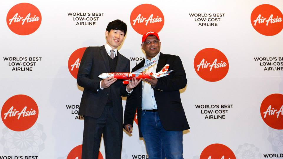 "AirAsia launched an Airbus A330 with exclusive livery featuring the former Manchester United football star, bearing the message, ""Thank you Captain Park."" (image: AirAsia)"