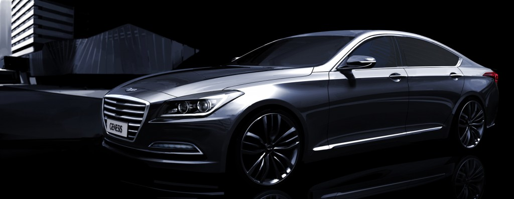 Hyundai's Genesis was picked as the safest car of the year by the Korean government. (image: Hyundai Motor)