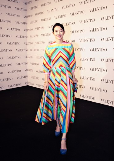 Shin Min-a Spotted at Valentino's New York Store Opening