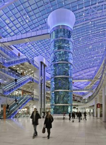 International Concept Management Completes the World's Tallest Cylinder Aquarium in Moscow's New Avia Park Shopping Center