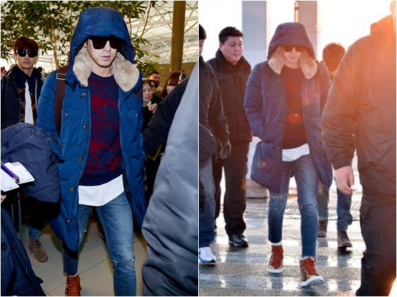 TVXQ Yunho Boasts His Chic Fashion at Airport