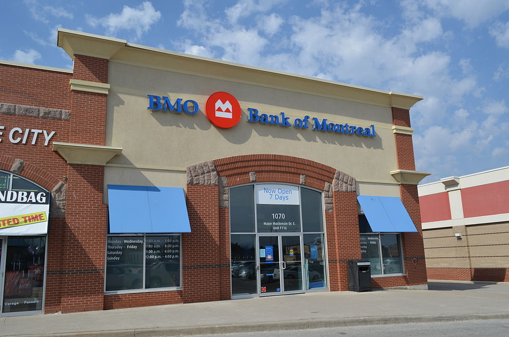For fiscal 2014, BMO Financial Group reported net income of $4,333 million or $6.41 per share on a reported basis and net income of $4,453 million or $6.59 per share on an adjusted basis. (image: wikimedia)