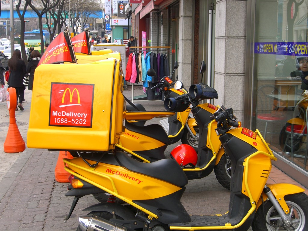 McDelivery motorcycles in Korea (Wikipedia)
