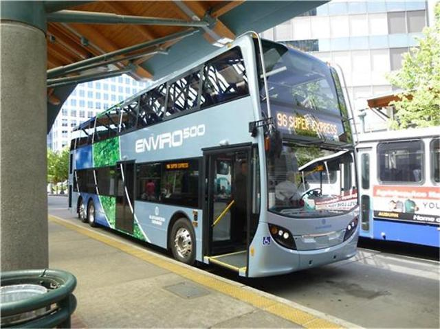 The Gyeonggi Provincial Government ran an Enviro500 manufactured by Britain's Alexander Dennis during the trial run period. (image: Gyeonggi Province)