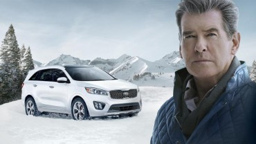 "Pierce Brosnan Makes the ""Perfect Getaway"" in the All-New 2016 Sorento During Kia Motors' Super Bowl Commercial"