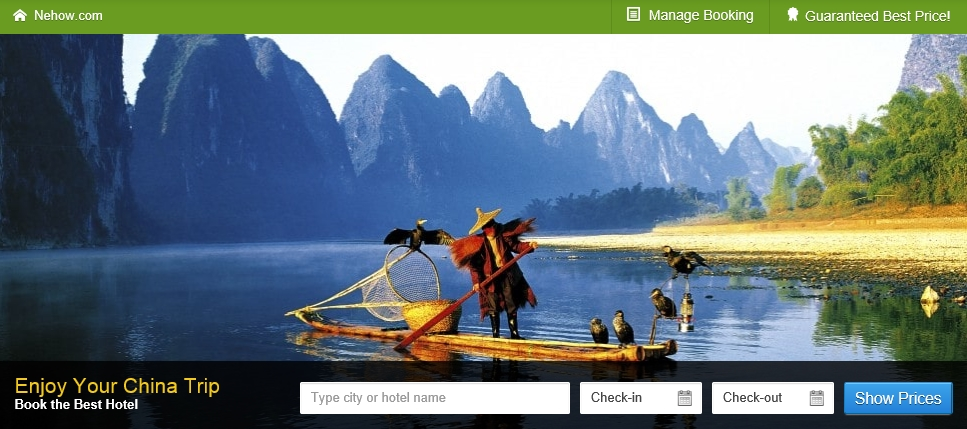 Nehow.com, a new China inbound travel website, is the first travel company to provide customized options based on the hotel guest's native country. (image: Nehow.com)