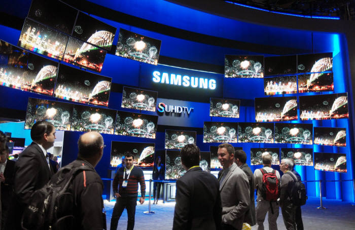 Samsung Electronics Co., the world's top maker of smartphones and memory chips, is set to hold a local launching event for its latest TV lineups in late February. (image: Samsung Electronics)