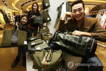 Bags on Sale Made of Tents Used during World War II