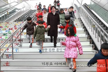 Korea Yakult Creates Donation Staircase
