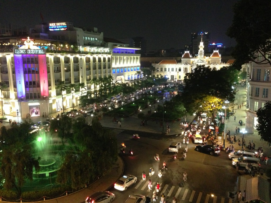 Rex Hotel and Nguyễn Huệ roundabout, Ho Chi Minh City, Vietnam (photo courtesy of Wikimedia Commons)