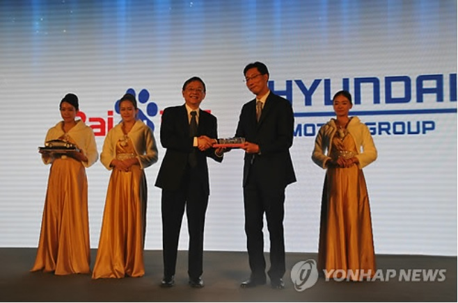 Hyundai announced that  China's top search engine would participate in efforts to sell cars that are equipped with Internet access and in-vehicle infotainment services. (image: Yonhap)