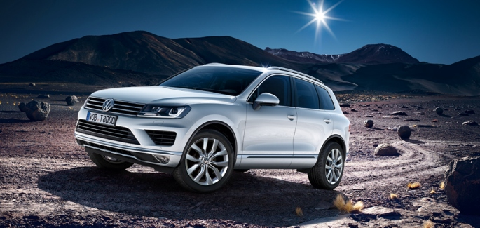 The new Touareg, an improved version of the 2nd-generation Touareg released in 2012, is a five-passenger luxury SUV. (image: Volkswagen Korea)