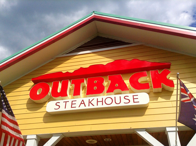 As of November 1 last year, Outback had 109 restaurants nationwide, but more than 30 percent of its restaurants have closed in the past two and half months. (image: Mike Mozart/flickr)