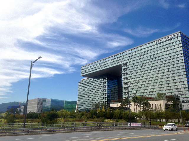 The headquarters of NCsoft Corp. in Bundang, southeast of Seoul. (image: ohyecloudy/flickr)
