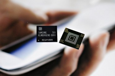Samsung Starts Mass Production of High-end Flash Memory for Smartphones