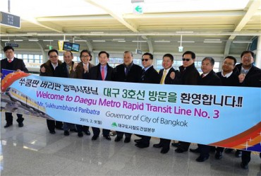 Governor of Bangkok to Benchmark Daegu's Monorail System